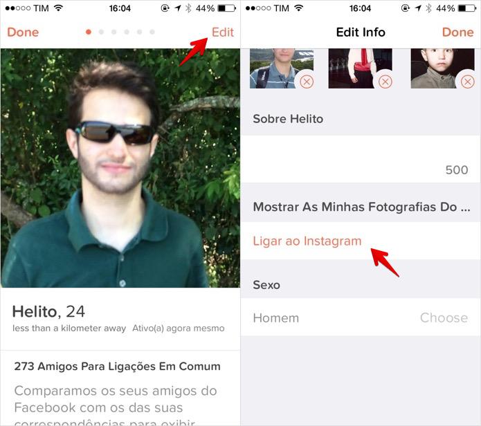 Habilitando integração com o Instagram (Foto: Reprodução/Helito Bijora)