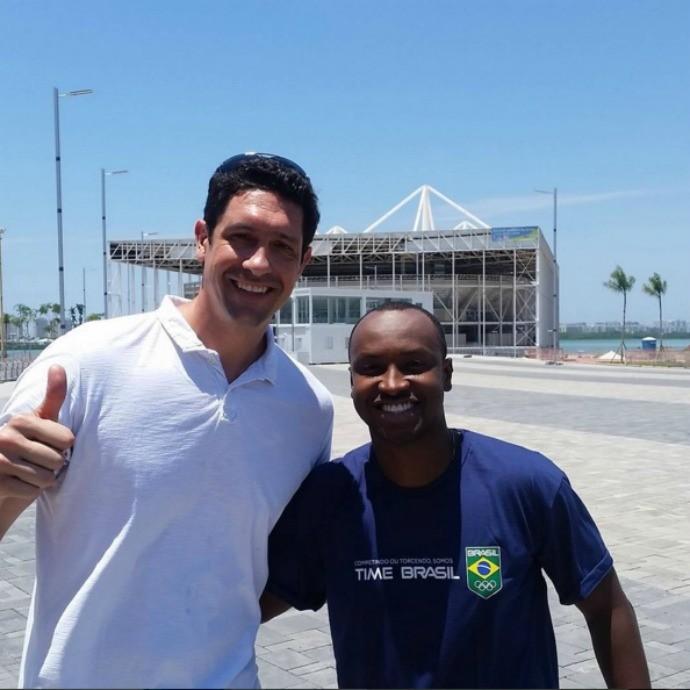 Atletas visitam Parque Olímpico (Foto: Reprodução/Instagram)