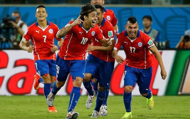 Valdivia Chile x Austrália Arena Pantanal (Foto: Reuters)