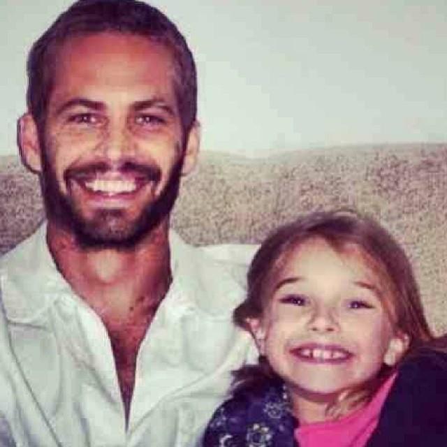 Paul Walker com a filha (Foto: Reprodução/Instagram)