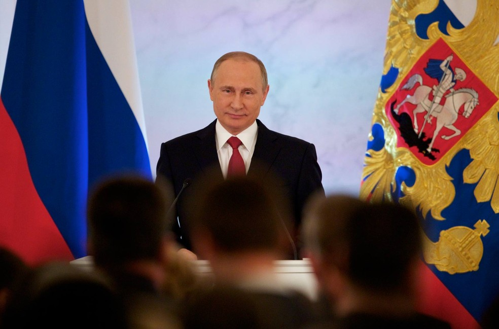 Putin diz estar disposto a cooperar com Trump na luta contra  terrorismo (Foto: Pavel Golovkin/AP)