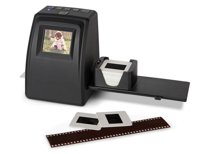 Pequeno scanner consegue digitalizar negativos (Foto: Divulgação/Hammacher) (Foto: Pequeno scanner consegue digitalizar negativos (Foto: Divulgação/Hammacher))