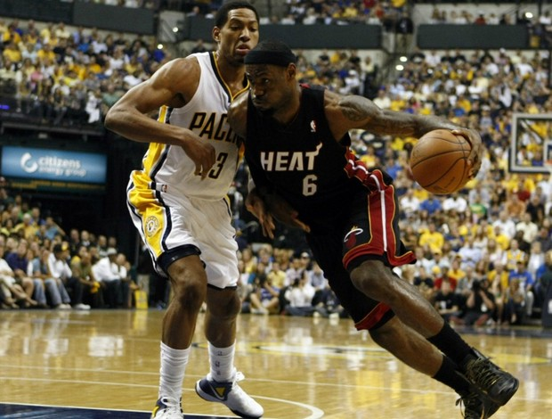 nba Granger James Indiana x Miami (Foto: Reuters)