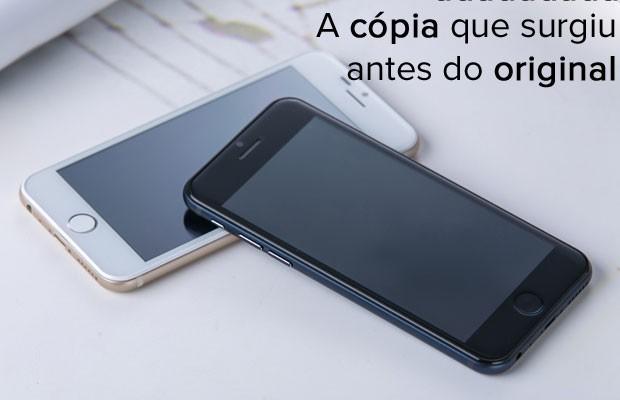 Goophone i6, o clone do iPhone 6, anunciado antes mesmo de o aparelho da Apple ter data para ser vendido. (Foto: Divulgação/Goophone)