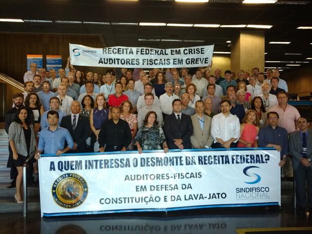 No Ceará, auditores fiscais da Receita Federal entregam chefias (Foto: Divulgação/Sindifisco )