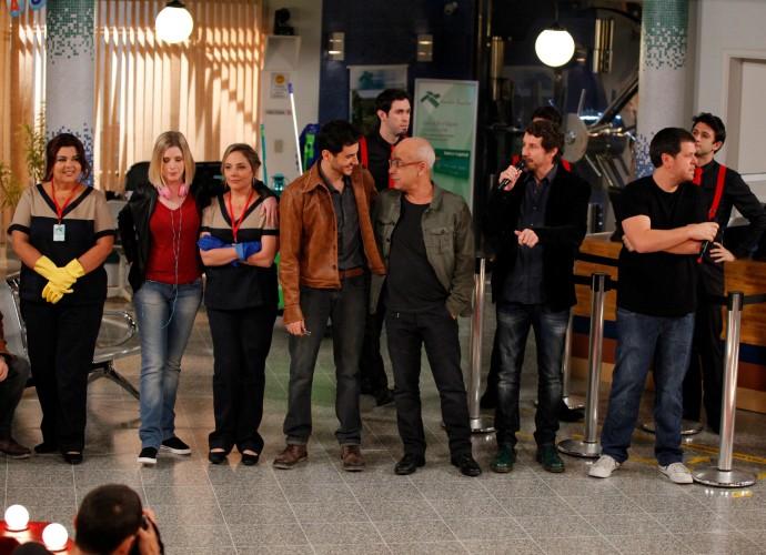 Coletiva de imprensa com equipe do Tomara que Caia (Foto: Artur Meninea/Gshow)
