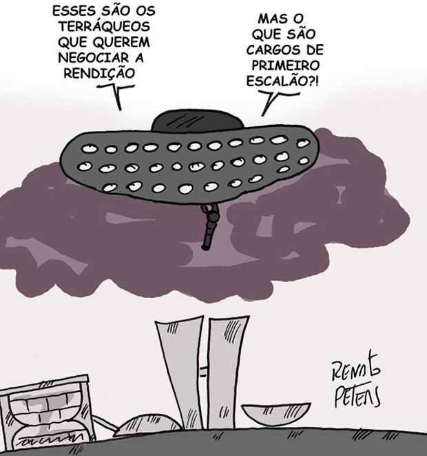 Charge Independence day no Brasil (Foto: Renato Peters/TV Globo)