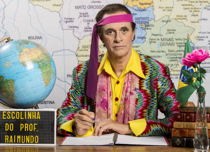 Marcos Caruso é o Seu Peru na 'Escolinha do Professor Raimundo' (Foto: João Miguel Junior / TV Globo)