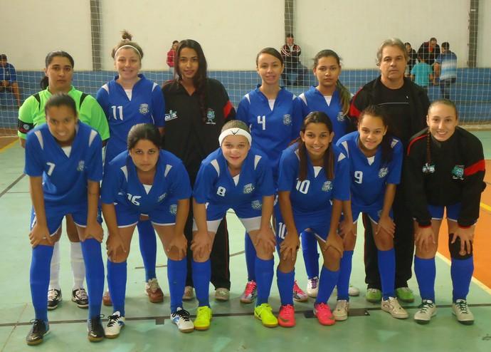 Equipe de futsal de Teodoro Sampaio campeã dos Regionais (Foto: Fabricio Couto / Dets / Divulgação)