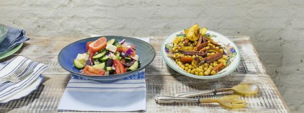 Cozinha prtica com Rita Lobo, nova temporada, salada grega (Foto: Divulgao/Editora Panelinha)