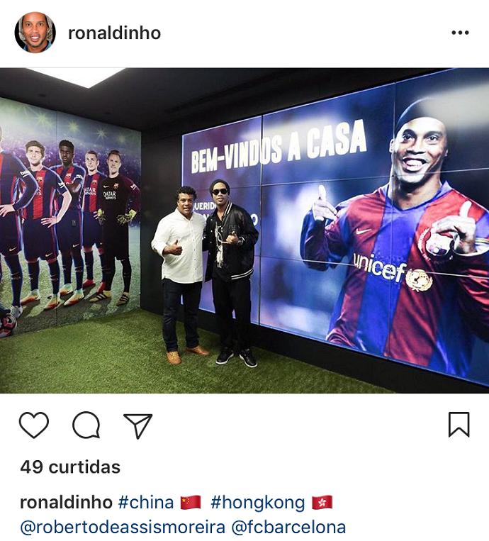 BLOG: Após brilhar na NBA, Ronaldinho representa o Barça em Hong Kong