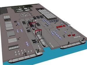 Protótipo da insdútria de naval que será implantada em Coruripe  (Foto: Divulgação/ Eisa Alagoas)