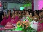 Projeto social faz festa de debutante para 50 meninas em Porangatu, GO