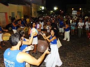 Cortejo do Baque Opará acontece todos os anos como prévia do carnaval de Petrolina, PE. (Foto: Roberta Duarte/Arquivo pessoal)