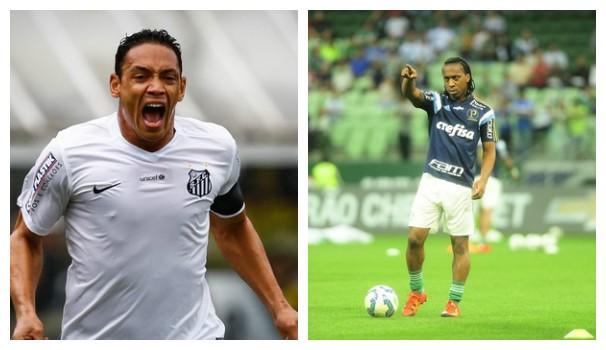Santos x Palmeiras (Foto: montagem/GE)