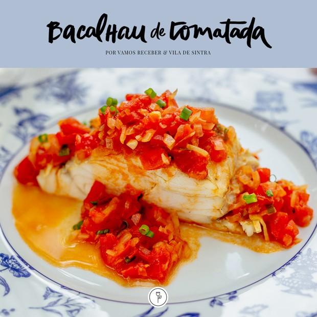 Bacalhau de Tomatada, por Vamos Receber (Foto: Arte Karen Hofstetter)