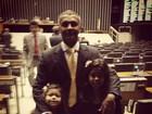 Romário publica foto ao lado das filhas em Brasília