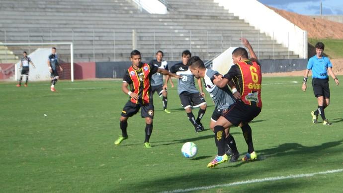 Globo FC x Botafogo-PB, Estádio Barretão, Rio Grande do Norte (Foto: Jocaff Souza/GloboEsporte.com)
