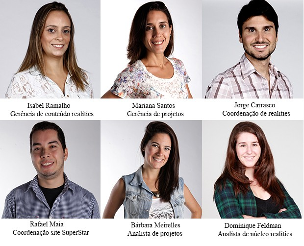 equipe site gerencia coordenação e analistas (Foto: SuperStar/TV Globo)