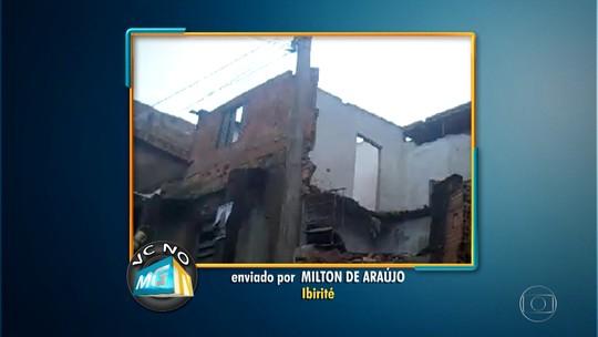 Casa abandonada corre risco de desabar em Ibirité, diz telespectador