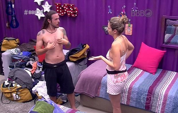 Tamiel e Ana Paula no BBB 16: agora os dois estão fora do jogo (Foto: Reprodução/Globo)
