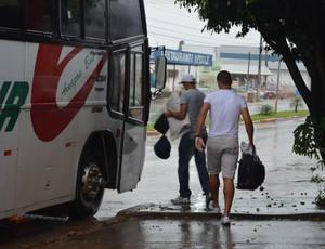 Debaixo de chuva, Ariquemes viaja confiante para enfrentar o Espigão (Foto: Eliete Marques)