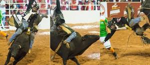 Final do rodeio dá vaga a peão no mundial em Las Vegas, nos EUA (Érico Andrade/G1)