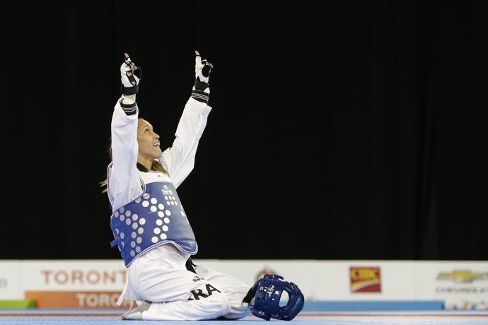 Iris Sing Silva taekwondo bronze Pan Toronto 2015 (Foto: AP Photo/Felipe Dana)
