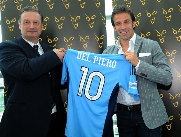 Del Piero apresentado no Sydnei (Foto: AP)