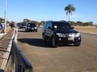 Juan Manuel Santos chega ao Palácio da Alvorada para reunião com Dilma