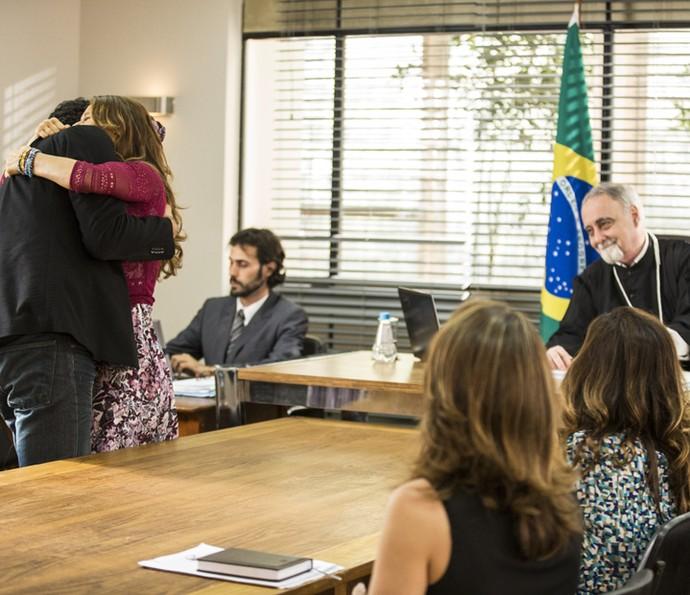 A alegria de Beto e Tancinha comove até o juiz (Foto: Inácio Moraes/Gshow)