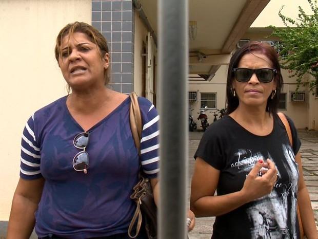 Ângela e Cláudia foram detidas na Operação, por suspeita de organizarem o movimento grevista (Foto: Reprodução/ TV Gazeta)