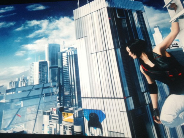 """Imagem do game """"Mirror's Edge 2"""", apresentação surpresa da EA na segunda-fera (10). (Foto: Gustavo Petró/G1)"""
