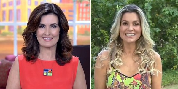 Fátima Bernardes e Flávia Alessandra prestam homenagem as mulheres (Foto: Reprodução TV Rio Sul)