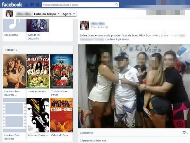 Presas publicavam em rede social de dentro do presídio (Foto: Reprodução)