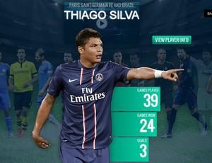 thiago silva uefa site (Foto: Reprodução)