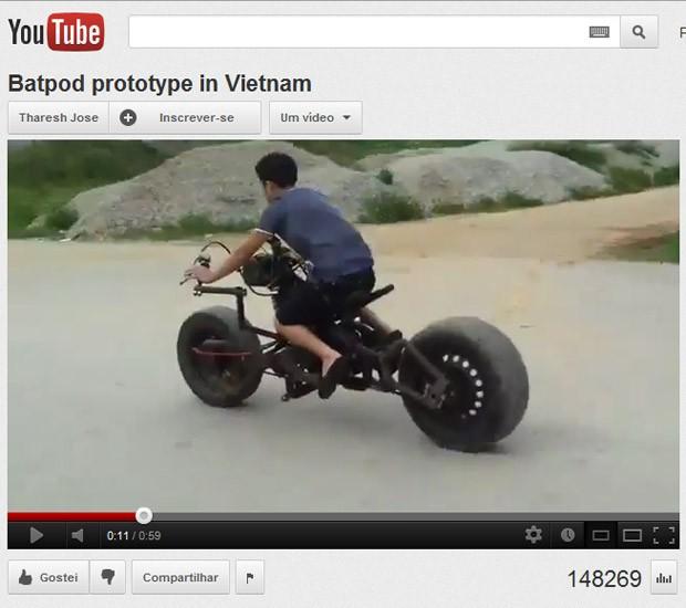 moto batman vietnã (Foto: Reprodução/YouTube)