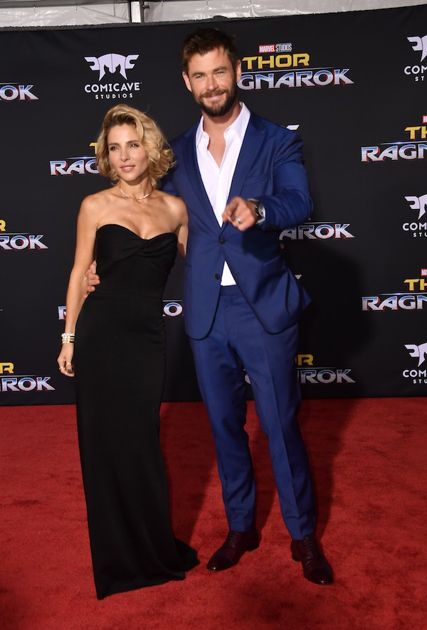 A atriz Elsa Pataky com o marido, o ator Chris Hemsworth (Foto: Getty Images)