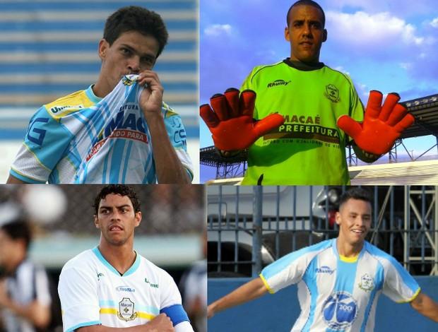 Gedeil, Norton, Luis Henrique e André Oliveira, Macaé (Foto: Arte/Everson Dias)