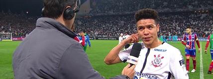 Marquinhos Gabriel comemora belo gol, mas quer Corinthians fazendo mais no Brasileiro