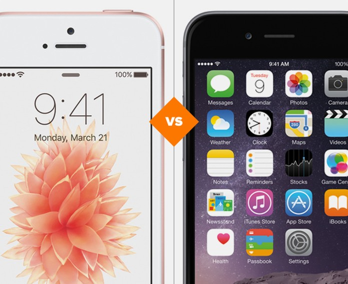 49208badc Confira o comparativo entre o iPhone SE e o iPhone 6S (Foto: Arte/