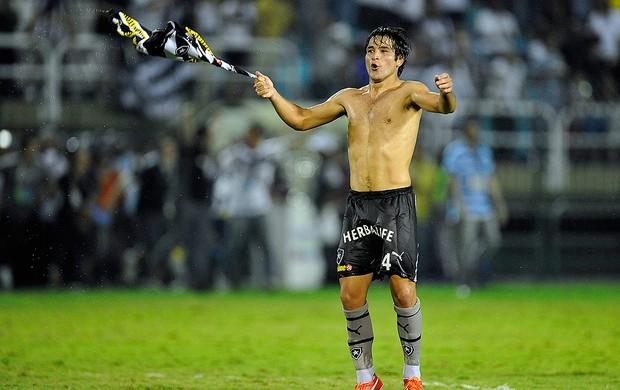 Lodeiro Botafogo campeão carioca 2013 (Foto: Satiro Sodré / Agif)
