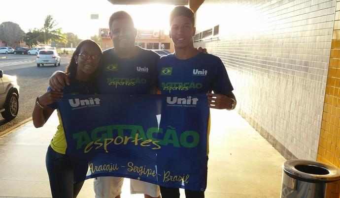 Márcio Renato, Raíssa Santana, desafio tv sergipe de natação (Foto: Reprodução / Facebook)