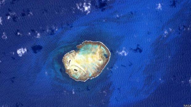 Ilhas que Scott Kelly fotografou, mas não descreveu a localização  (Foto: Nasa)