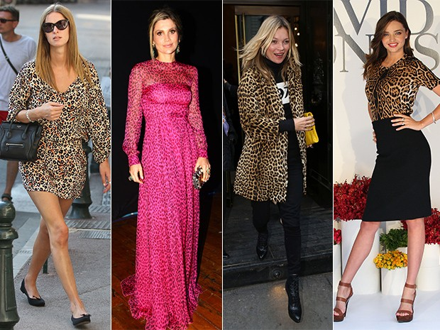 Animal Print - Nick Hilton, Flavia Alessandra, Kate Moss, Miranda Kerr (Foto: Getty Images/ Iwi Onodera-EGO)
