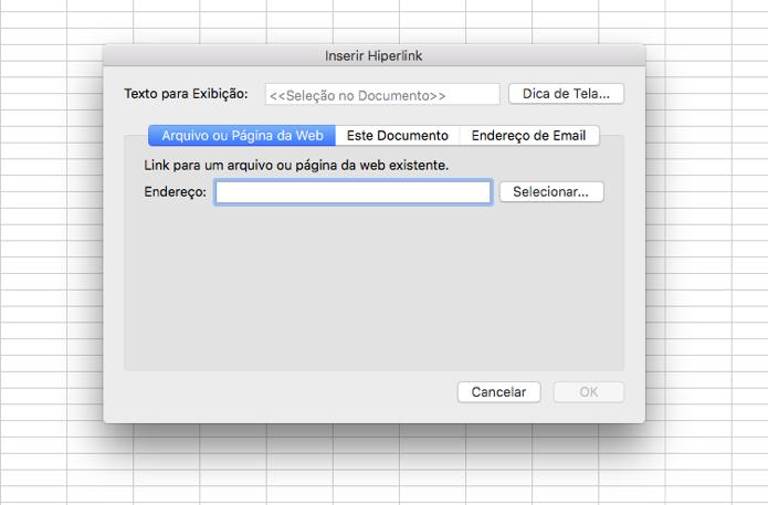 Crie hiperlinks em documentos do Excel (Foto: Reprodução/André Sugai)