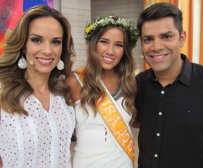 Aline é vencedora de concurso de beleza no Rio Grande do Sul (Foto: Priscilla Massena/Gshow)