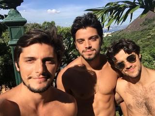 Bruno Gissoni, Rodrigo Simas e Felipe Simas (Foto: Reprodução/Instagram)