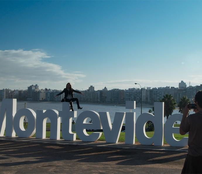 A aleria de Eliza em Montevidéu (Foto: TV Globo)