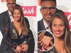 Talita Rocca disfarça sobre noivado com Leandrinho: 'Apaixonados'
